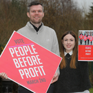 Gerry Carroll and Fiona Ferguson at the People Before Profit launch