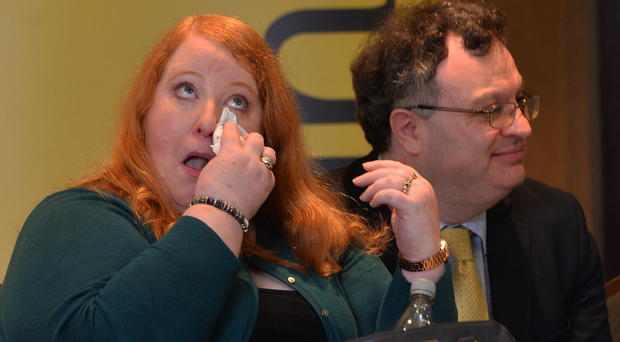 Naomi Long and deputy leader Stephen Farry at the manifesto launch