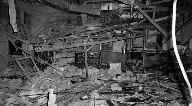 The outside of the Mulberry Bush pub in Birmingham in the aftermath of the attack