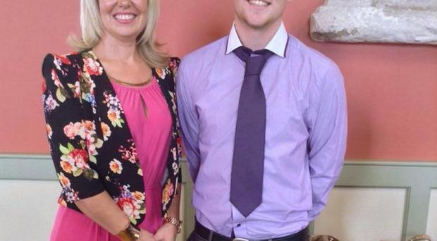 Hester Glenn with her son Jack, who went missing in the River Foyle just over three weeks ago