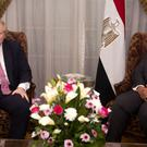 Foreign Secretary Boris Johnson, left, meets Egyptian Foreign Minister Sameh Shoukry in Cairo (Amr Nabil/PA)