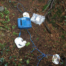 The lifesaving defibrillator destroyed during the attack