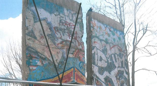 Section of the Berlin Wall given to Belfast