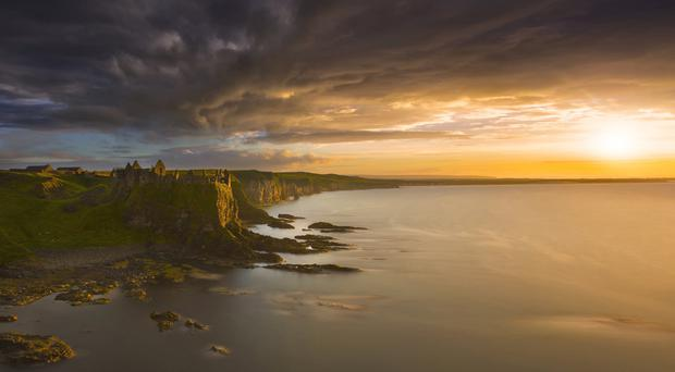 The photograph of Dunluce Castle at sunset that won the top prize in the competition