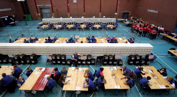 Counting at the Seven Towers Leisure Centre in Ballymena