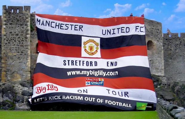 Big Lily. The Man Utd flag owned by Keith Norris