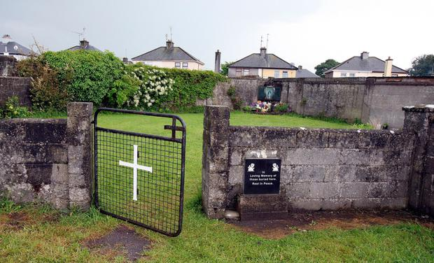 The site of a mass grave discovered at the Tuam home in 2014
