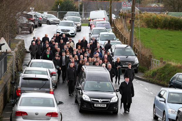 The funeral of former SDLP South Down MLA PJ Bradley in the Burren Co Down