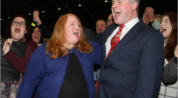 Alliance Party's Naomi Long and husband Michael