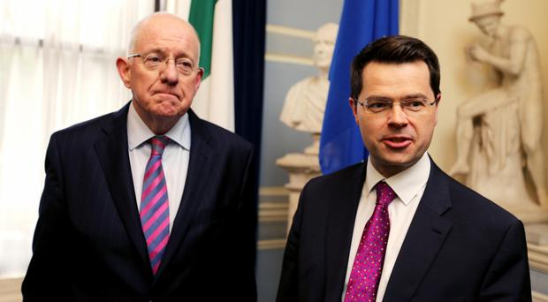 Charlie Flanagan with Secretary of State James Brokenshire