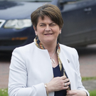 The DUP's Arlene Foster at Stormont yesterday