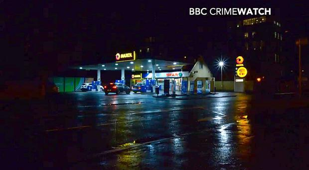 A scene from Crimewatch on the appeal over the shooting of the officer