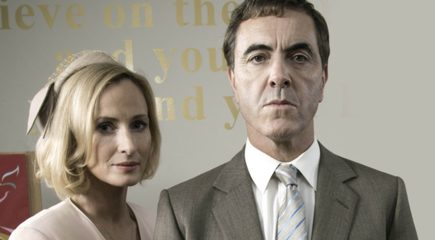 Genevieve O'Reilly and James Nesbitt played killers Hazel Stewart and Colin Howell