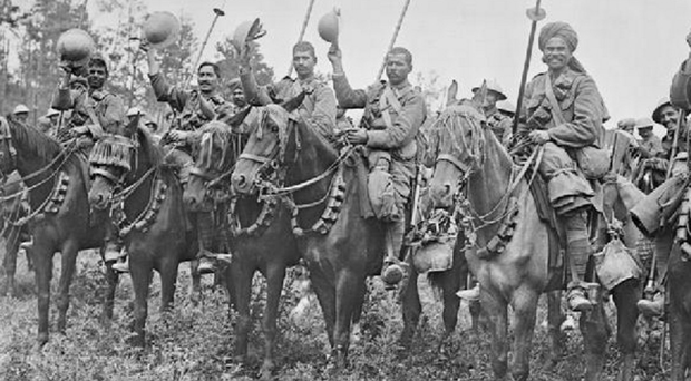 Soldiers from the 9th Deccan Horse, who made the only cavalry charge of the Somme campaign
