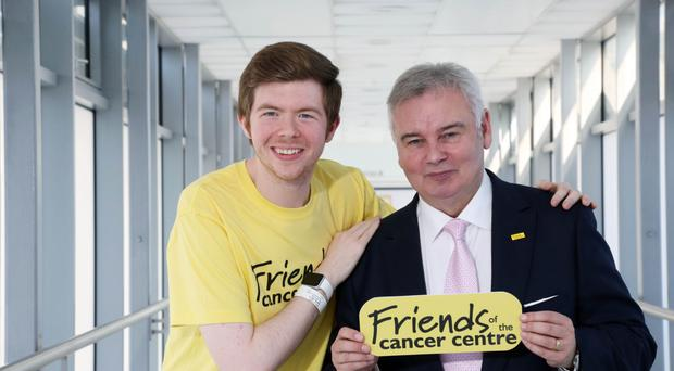 Eamonn Holmes with 23-year-old patient Jamie Haughton