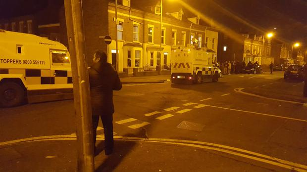 Police in the Holyland area last night