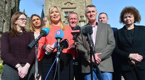 Michelle O'Neill and Sinn Fein colleagues