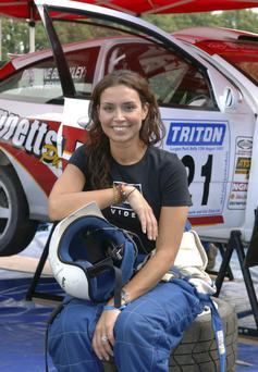 Christine Bleakley, who was a co-driver for Craig Bennett at the Lurgan Park Rally back in 2005