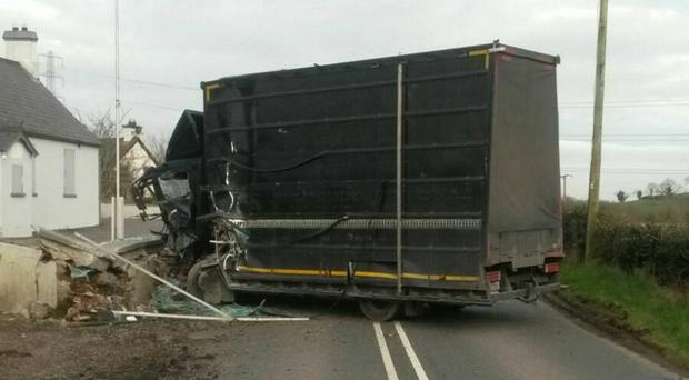 The scene of the crash on the Ballynahinch Road