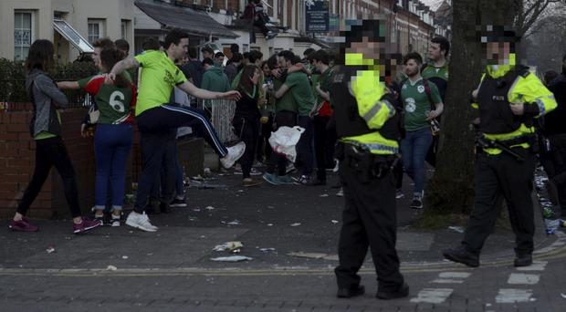 Celebrations in the Holyland on St Patrick's Day last year.