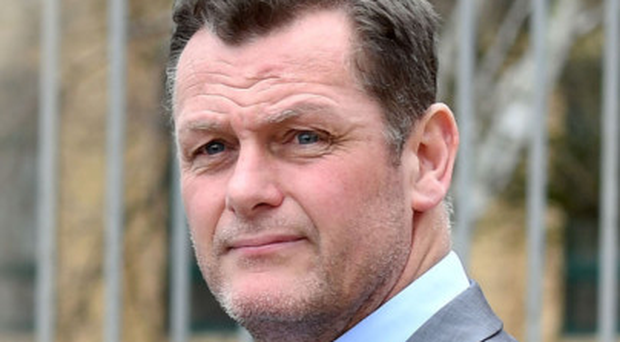Jim Magilton at court yesterday