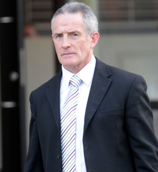 Gary Alcock leaves the tribunal earlier this week