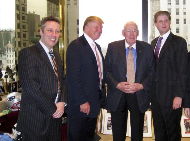 Ian Paisley with late father Ian and Trump in New York several years ago