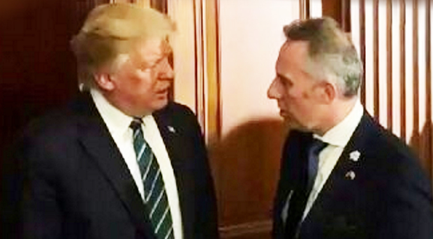 Ian Paisley with Donald Trump