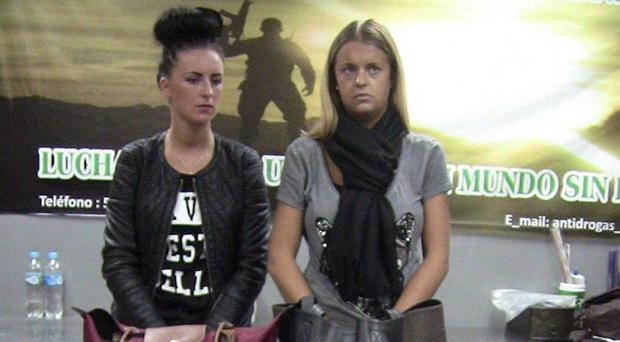 Michaella McCollum with Melissa Reid at the time of their arrest in Peru in 2013
