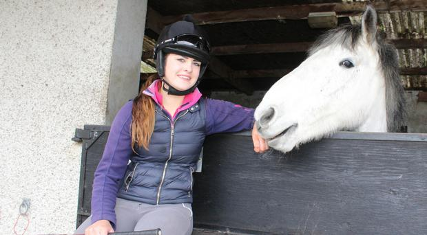 Coleraine girl Zoe McMullan with her horse Eva