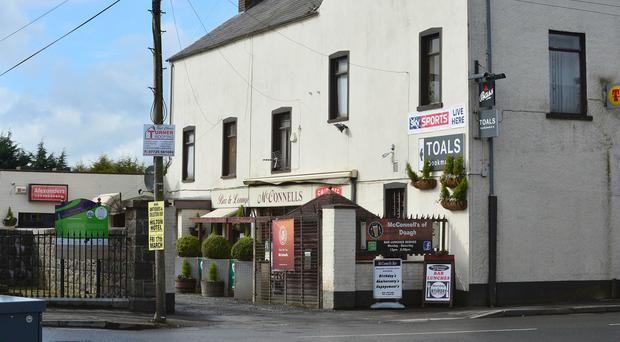 McConnells Bar in Doagh where Moore was attacked