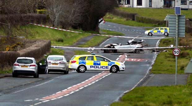The scene of the collision on the Curragh Road in Coleraine on Saturday morning where Reginald Diamond tragically died