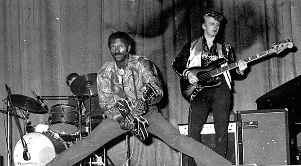 Chuck Berry at the ABC in 1977, photographed by Terence Bowman