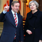 Enda Kenny with Theresa May