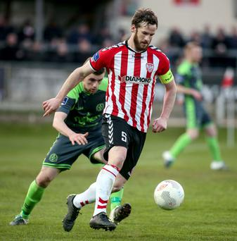 Ryan McBride in action
