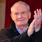 The last public appearance by Martin McGuinness in Clonoe, Co Tyrone, on January 25