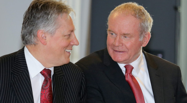 First Minister Peter Robinson and Deputy First Minister Martin McGuinness in 2014