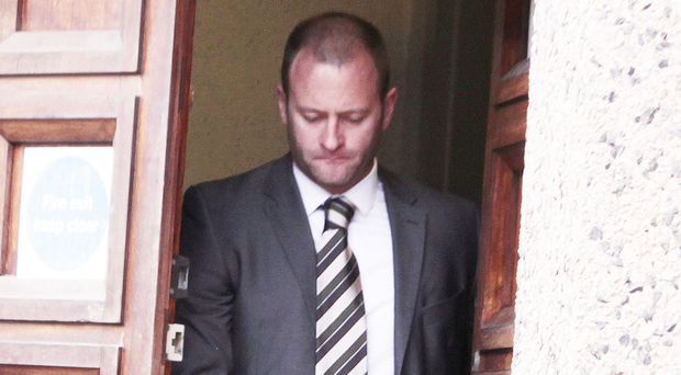 Colin McClean leaves court in Ballymena