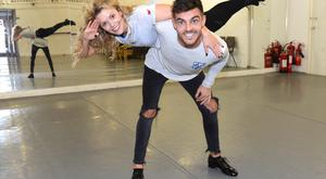 Ryan McShane and his dance partner Denise McCormack in rehearsals