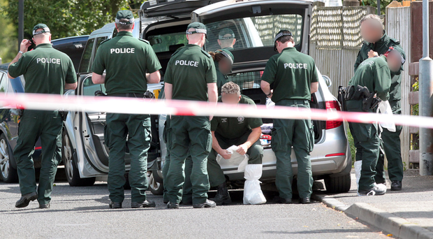 Police at the scene of the attempted bomb attack (File photo)