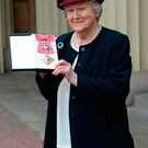 Patricia Routledge after being made a Dame for services to the theatre and charity during an investiture ceremony at Buckingham Palace