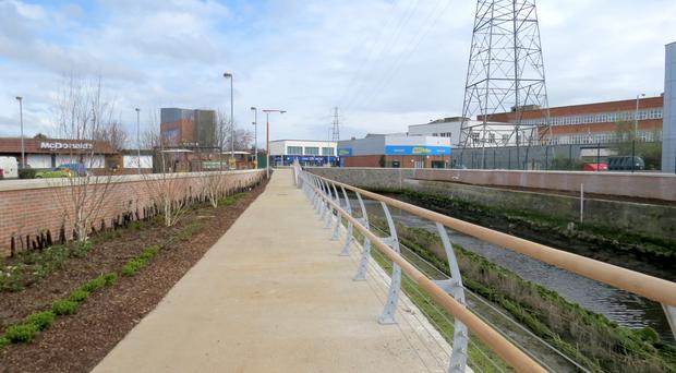 A stretch of the new section of Greenway