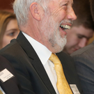 Former leader David Ford laughs at a joke during the Alliance annual conference