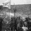 The Young Citizen Volunteers flag at Whytschaete Ridge in Belgium
