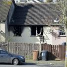 The scene of the fatal fire in Culdee Drive, Armagh