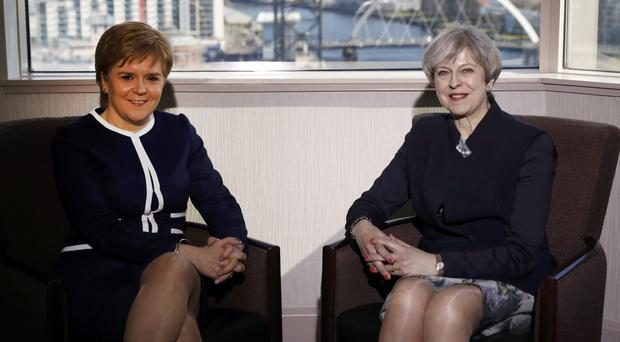 Prime Minister Theresa May, right, and First Minister Nicola Sturgeon met in Glasgow for talks