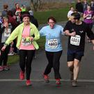 Gillian Craig completing a Belfast Telegraph Run Forest Run rac