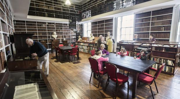 Inside the refurbished Armagh library