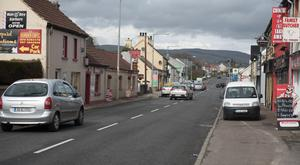 The border town of Muff in Co Donegal