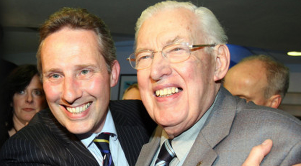 Ian Paisley MP with his dad